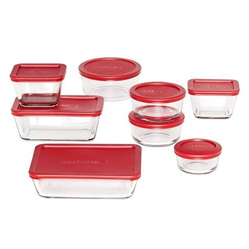 Anchor 16-Piece Set with Lids