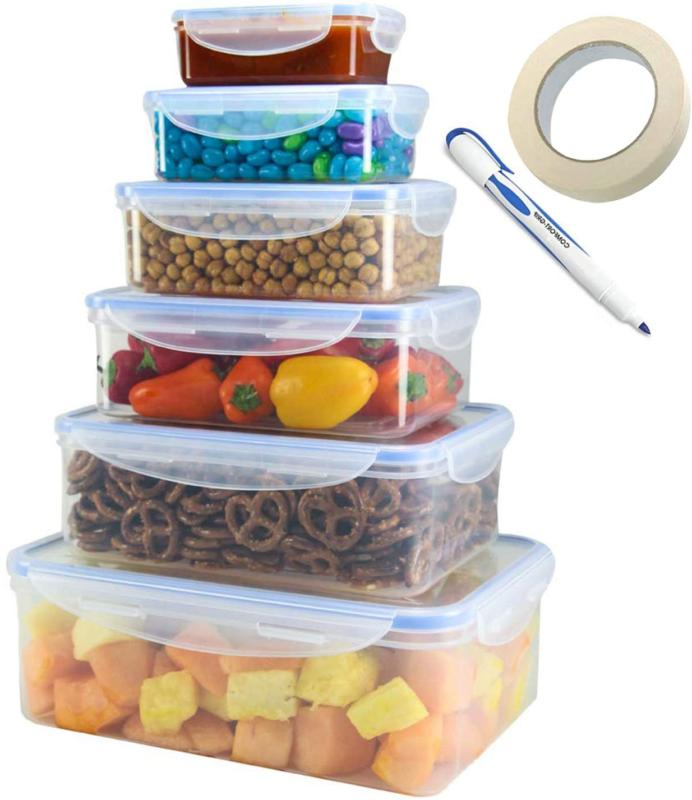 tigerchef food storage container set with airtight