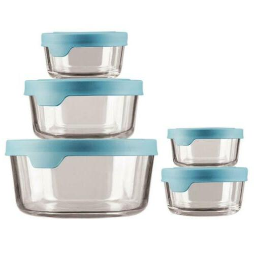 trueseal glass food storage containers airtight lids