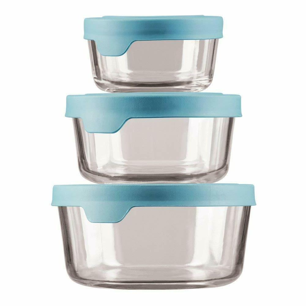 trueseal glass food storage containers with mineral