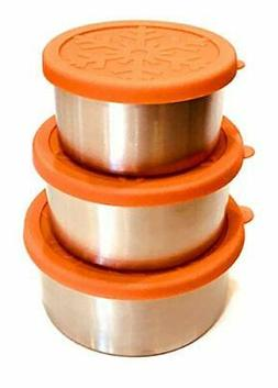 Snackerdoos Large 3-piece Stainless Steel Food Containers wi