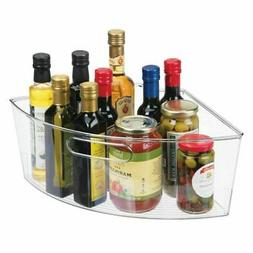 mDesign Lazy Susan Kitchen Food Storage Organizer Bin, 1/4 W