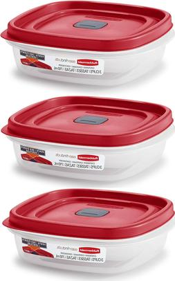LOT OF 3  CONTAINERS RUBBERMAID EASY FIND VENTED FOOD STORAG