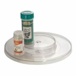 mDesign Plastic Spinning Two Tier Lazy Susan Turntable Food