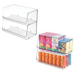 mDesign Extra Large Household Stackable Plastic Food Storage