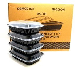 Meal Prep Containers 1 Compartment Food Storage Boxes Reusab