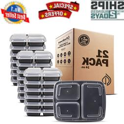 Meal Prep Containers  3 Compartments  Food Storage Bento Box