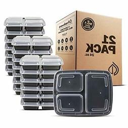 Meal Prep Containers 3 Compartment with Lids Food Storage Be