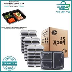 meal prep containers 3 compartment with lids