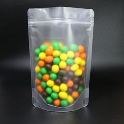 Bulk Matte Translucent Food Storage Poly Stand Up Resealable