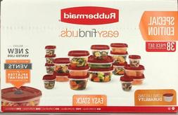 New Red Rubbermaid Easy Find Vented Lids Food Storage Contai