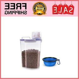 Dry Pet Food Storage Sealed Container Bin Dog Cat Supply BPA