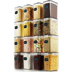 3 Pcs Plastic Cereal Dispenser Set - Dry Food Snack Nut Stor
