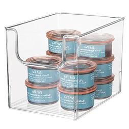 mDesign Plastic Open Front Food Storage Bins for Kitchen Cab