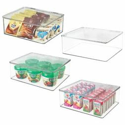 mDesign Plastic Stackable Kitchen Pantry Food Storage Contai