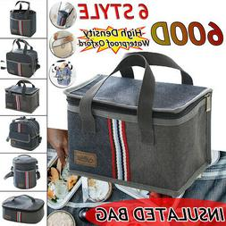 Portable Insulated Lunch Storage Bag Box Thermos Cooler Hot