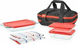 Pyrex Portables Glass Food Bakeware and Storage Containers (