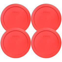 Pyrex 7201-PC Red Plastic Round Lid 4 Cup, 950mL 1113766 4-P