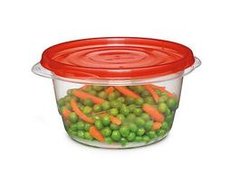 Rubbermaid Round Bowl Container Freezer 25.7 Oz Clear Base,