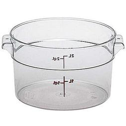 Cambro Round Storage Container Clear 2 Qt.