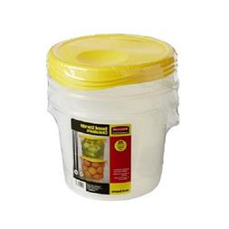 Rubbermaid Round Storage Containers - 3pk