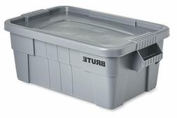 Rubbermaid Commercial Brute Tote Storage Bin With Lid, 14-Ga