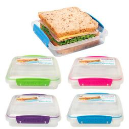 Sistema Sandwich Container With Lid Fresh Food Storage To Go