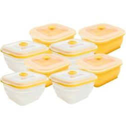 Collapse it Silicone Food Storage Containers 8-Piece Square