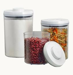 OXO SoftWorks POP 3 pc Food Storage Round Canister Set Airti