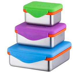 Stainless Steel Food Containers with Snapping Seal Leak-proo