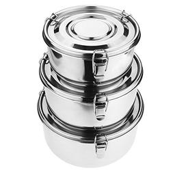 Stainless Steel Food Storage Containers 304 - Leak-Proof, Ai