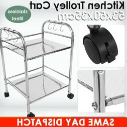 Stainless Steel Kitchen Dining Service Food Utility Trolley