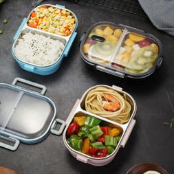 Stainless Steel Thermal Insulated Lunch Box Bento Food Conta
