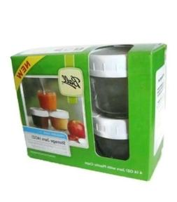 storage jars 4 pk plastic caps freezer