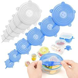 Stretch Reusable Silicone Bowl Food Storage Wraps Cover Seal