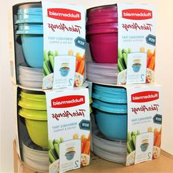 Rubbermaid TakeAlongs 2 Cup Containers Removable Tray 2-Pack