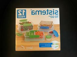 Sistema To Go 12-Piece Lunch Food Storage Container Set New