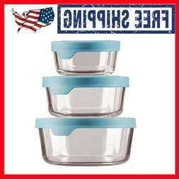 Anchor Hocking TrueSeal Round Glass Food Storage Containers