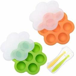 Tosnail Utensils 2 Pack Silicone Baby Food Storage Container