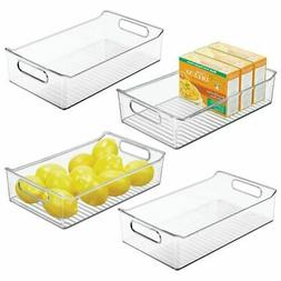 mDesign Wide Plastic Kitchen Pantry Cabinet Food Storage Bin